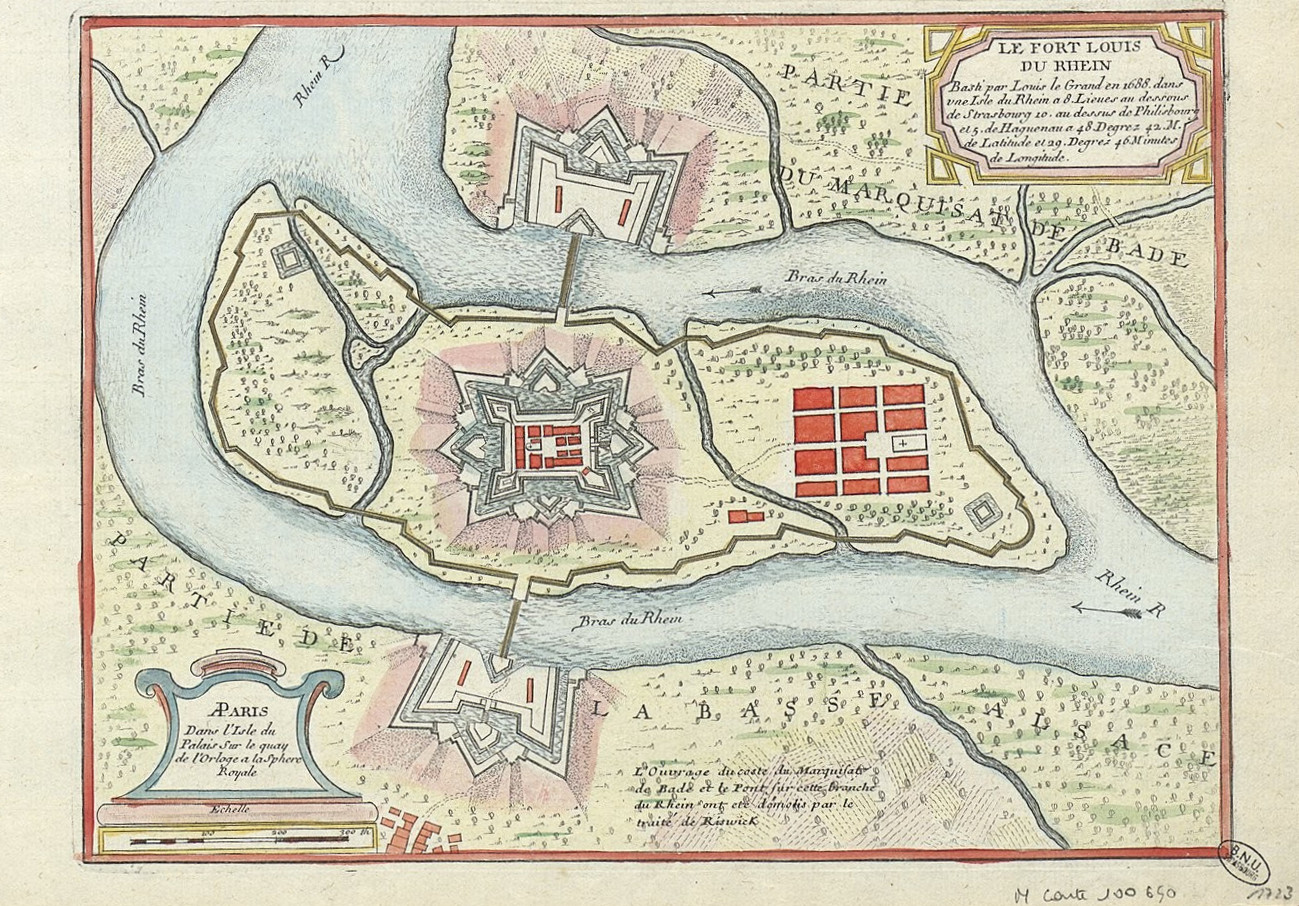 carte du fort Louis