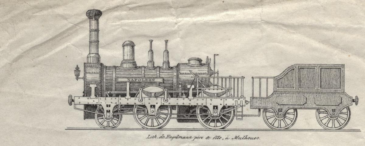 "Locomotive ""Thann"" de Stehelin et Huber"